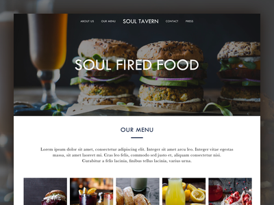 Soul Tavern - dark theme ui dark moody restaurant soul-tavern vegetarian cruelty-free clean