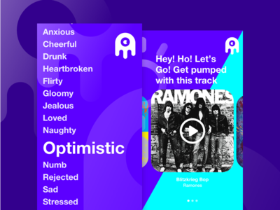 Soundtrack App app design ui mobile typography playlist music