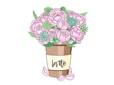 peonies and succulents