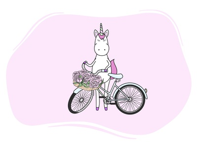 Unicorn and his bicycle :)