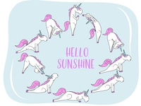 Unicorn Yoga. Hello sunshine