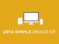 2014 Simple Device Kit mobile tablets displays browsers flat simple kit ux devices