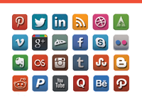 Social Media Icon Set icon set social media photoshop illustrator