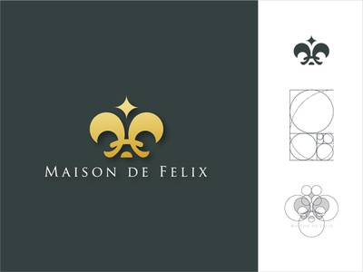 Maison de Felix golden ratio logo