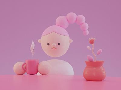 Teresina character blender3d blender illustration