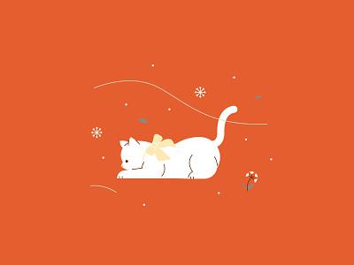 Cozy Winter   Winter Weather winter cozy cat illustration cat kitty flat  design vector illustration