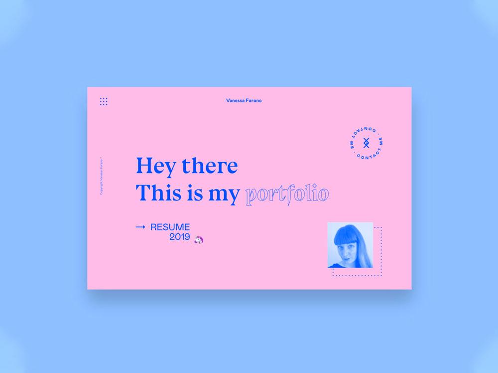 Personal Portfolio Concept typography concept portfolio portfolio design