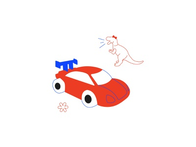 Toys are just toys trex toys girl power feminism flat  design vector illustration