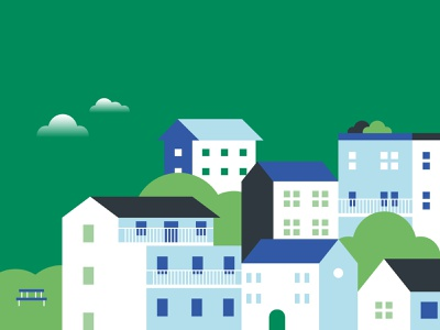 Electrify Italy • Residential green energy flat vector house flat  design illustration enel