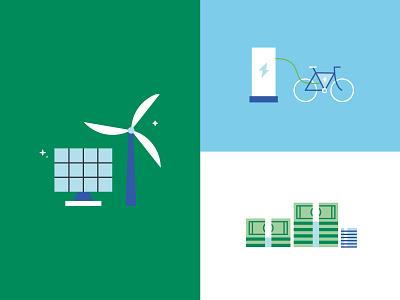 Electrify Italy • Mix renewable energy renewable money green energy green power flat flat  design vector illustration