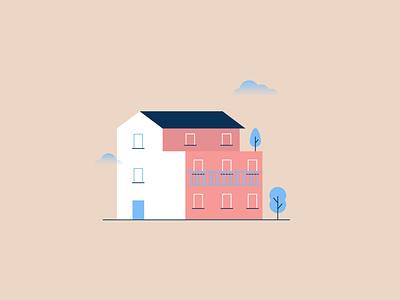 Just a house house illustration home house vector flat flat  design illustration