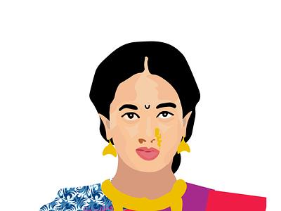 Gauri serial star pravah marathi illustraion