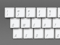 Old Mac Keyboard Keys