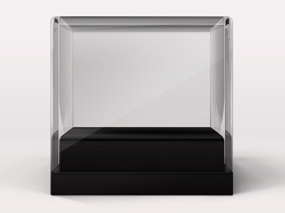 Empty Display Case empty glass clear acrylic display case wip photoshop photorealistic shadow design