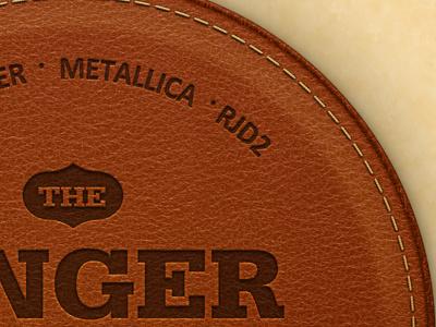 Singer Songwriter Cover singer songwriter metallica rjd2 leather patch badge stitching stitches slab serif photoshop design illustrator