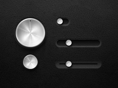 Metal Dials/Sliders
