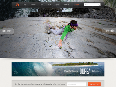 Ourea Web Home ourea web website home landing nav mountain web design slideshow