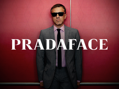 Pradaface WIP christoph waltz pradaface prada typeface type font type design p r a d f c e wip