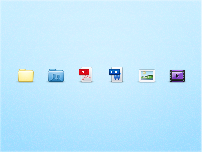 Icons icons folder shared pdf word document image photo picture movie film video