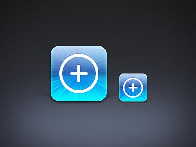 Procedural Starburst icon ios starburst photoshop procedural scalable blue shiny glossy plus add 2x retina