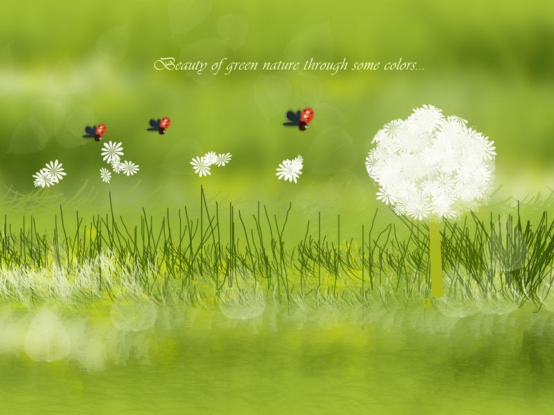Green Nature digital painting photoshop art photoshop design art and illustraion