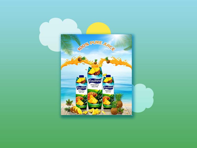 Juices Design for social media Promotion add designs photoshop designs social media adds