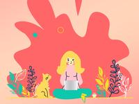 Girl On Lapy illustration design