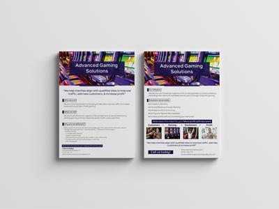 Advance Gaming Flyer graphic  design graphicdesign identity branding brochure design flyer template flyer designs flyer design flyers flyer