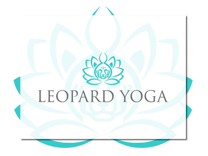 Leopard Yoga Logo design typography identity brand logo logodesign branding