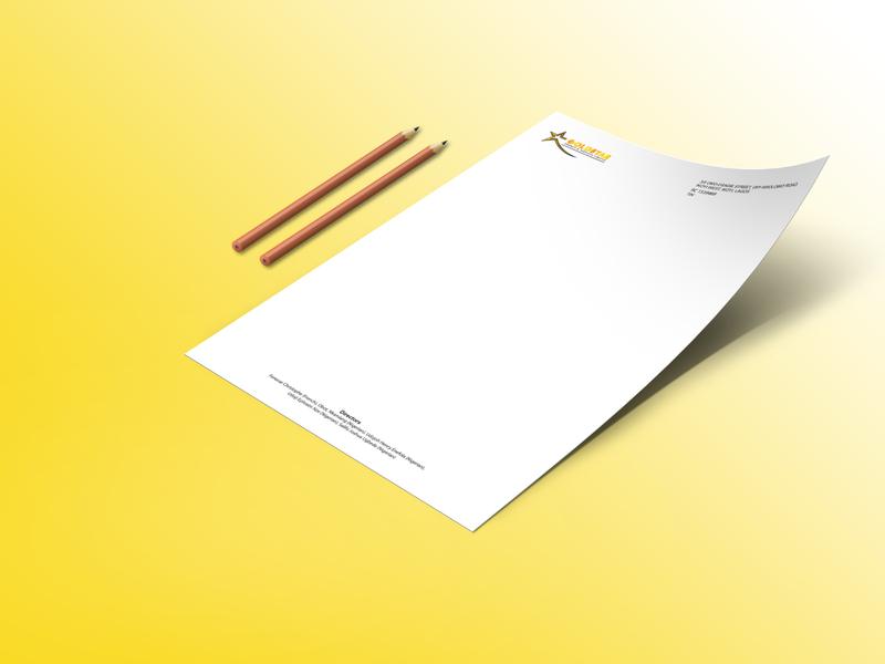 Goldstar Letterhead Design stationery branding identity letterheadlogo letterhead design