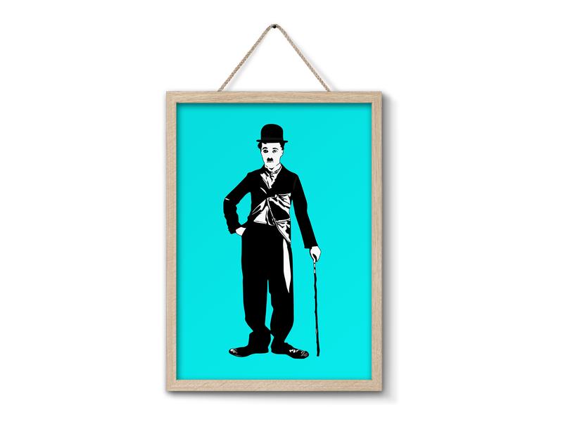 Charlie Chaplin illustrator illustration logo vectors vector illustration vectorart vector portrait art portrait