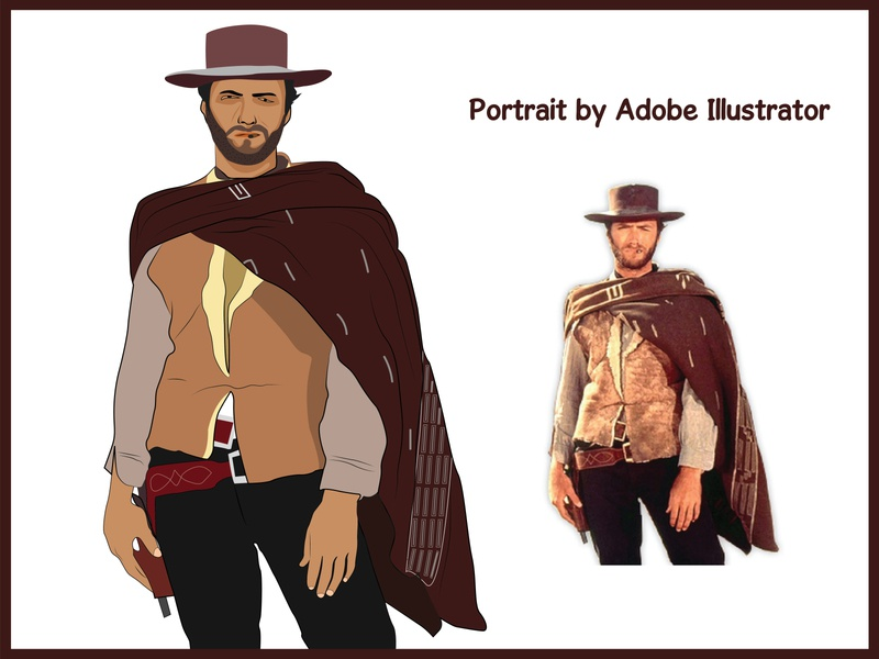 Clint Eastwood illustrator character vector illustration vectors vector art vector vectorart illustration art illustrations illustration