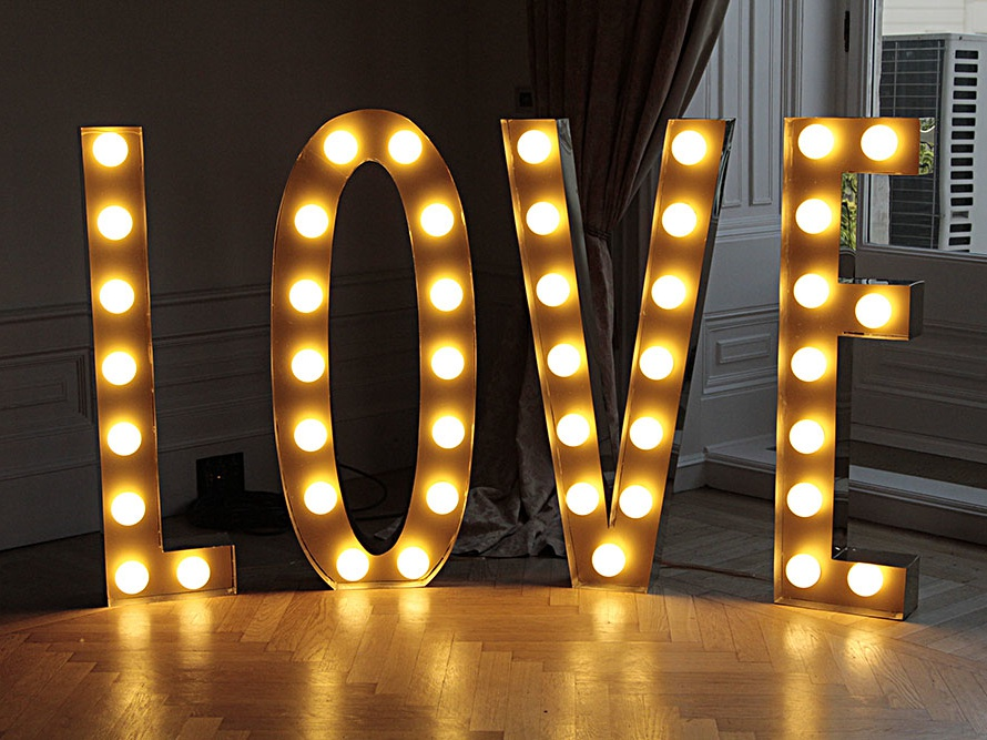 Carnival Letter Design prop design wedding lighting bulbs letter carnival love