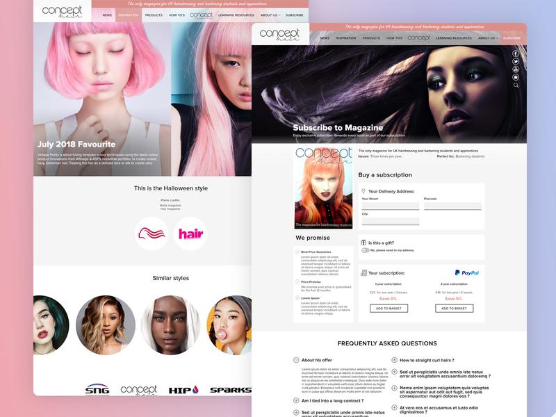 Concept Hair Magazine competition advert lifestyle blog lifestyle illustration cms agency birmingham desktop design website development web design agency wordpress magazine student apprentice