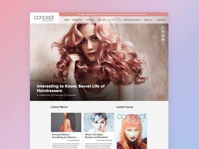 Concept Hair Magazine Video competition education student branding illustration apprentice birmingham web design agency desktop design website development logo design website design