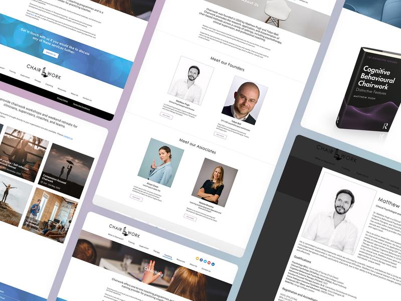 Chairwork - Multiple screenshots responsive web design ipad mobile design branding website development wordpress uk agency birmingham web design agency website design desktop design isometric