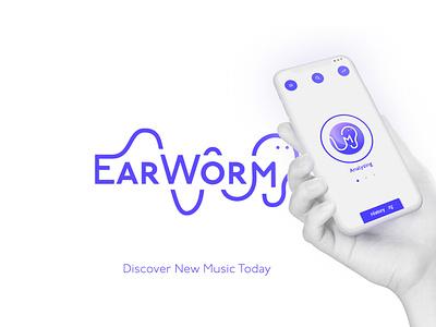 Earworm App uiux uxdesign ux design branding 3d logo typography shazam earworm app adobexd illustration brand identity brand uxui