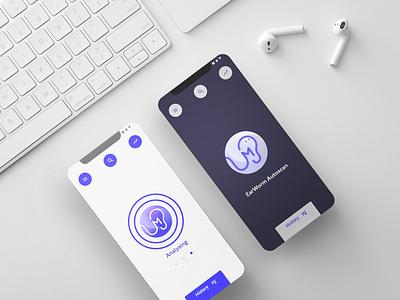 Earworm App logotype vector uxui uxdesign uiuxdesign uiux typography shazam logo illustration earworm branding brand identity brand app adobexd 3d