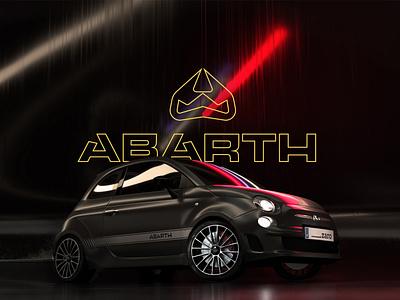 Abarth Rebranding lgoo logotypes logotype badge fiat500 cars 2020 icon branding logo photoshop adobexd brand identity identity car racing fiat abarth brand rebranding