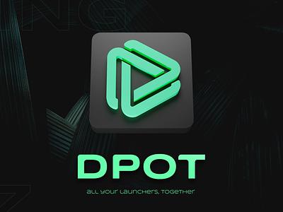 DPOT App Icon uxui logo illustration typography adobexd brand origin launcher steam riot gaming app icon cycles blender blender3d 3d