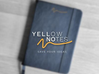 Yellow Notes Branding dotted moleskine notes yellow photography logo branding design brand identity logicpro notebook branding