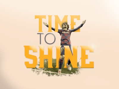 It's time to shine griezmann messi typographic typography vector design retouch editing photoshop illustration art shine to time goal laliga soccer football barcelona fcbarcelona illustration