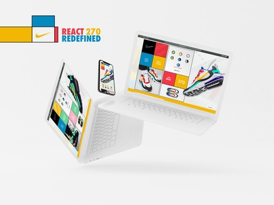 Nike React 270 Bauhaus Web Design webdesign color bauhaus100 bauhaus 270 react nike ux ui design web adobexd