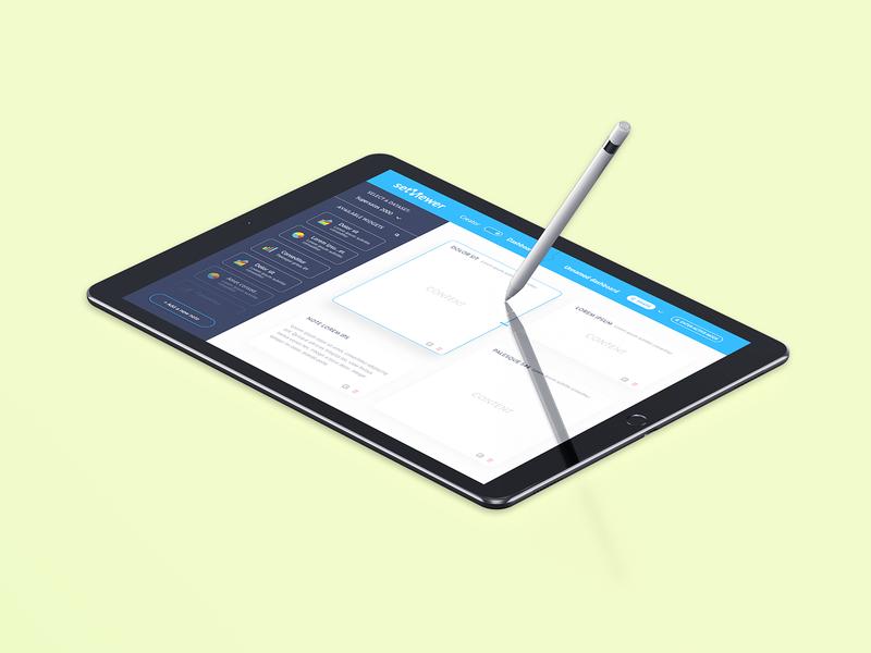 Dashboard Tablet Setviewer App