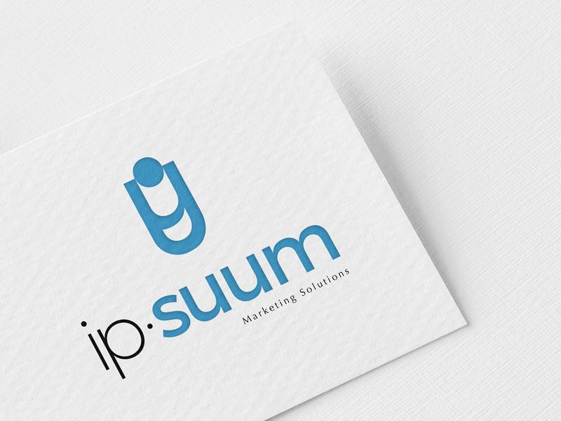 Ipsuum Logotype graphic design logo logo design