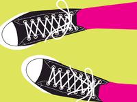 Converse Shoes Illustration