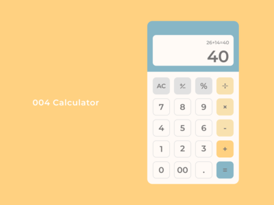 Daily UI Design 004 - Calculator