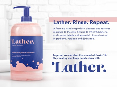 Label Design for a Soap Brand  // Weekly Warm-Up Challenge