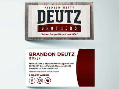 Deutz Brothers Business Card
