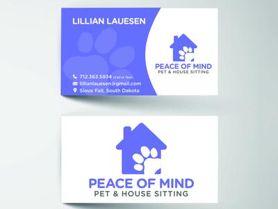Peaceofmind Businesscards Mockup